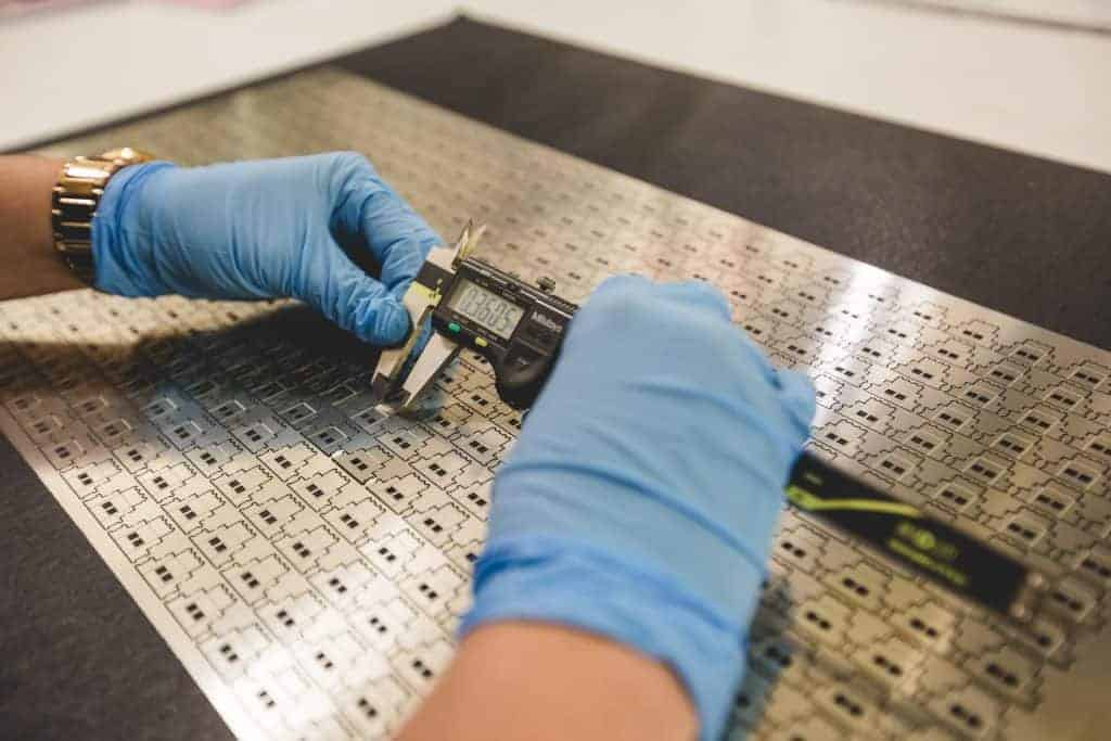 Photo-chemical etching process: Employee Inspection